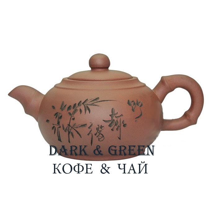 Глиняный чайник Бамбук 350 мл.