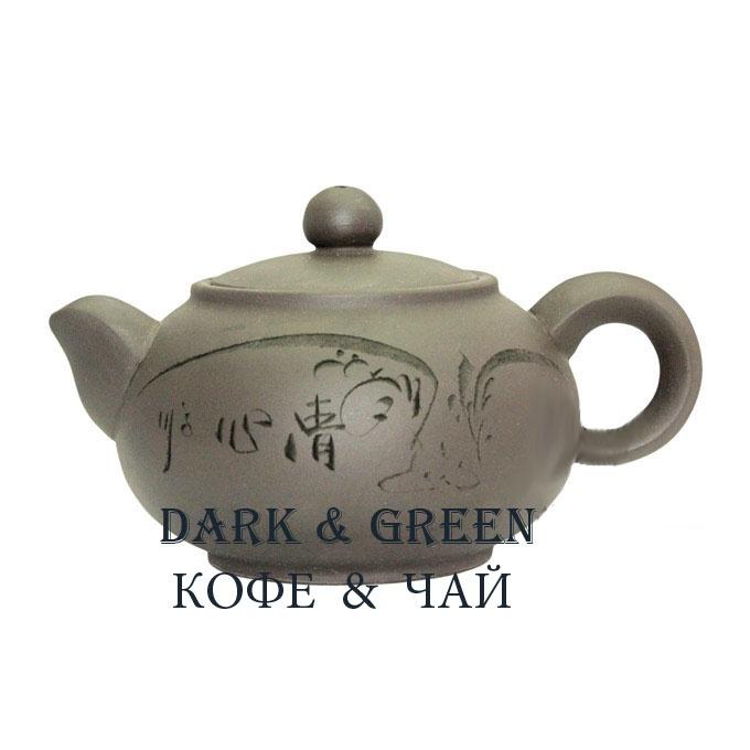 Глиняный чайник Два лепестка 350 мл.