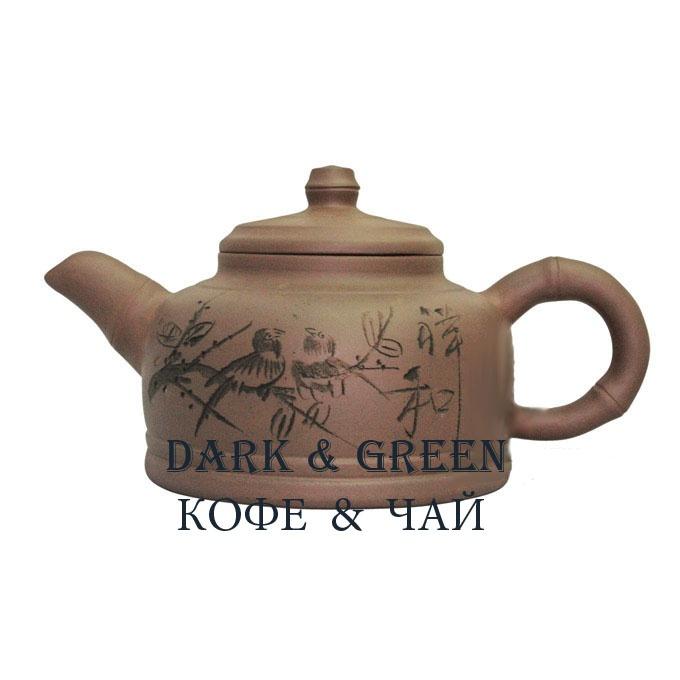 Глиняный чайник Китайская вишня 1100 мл.
