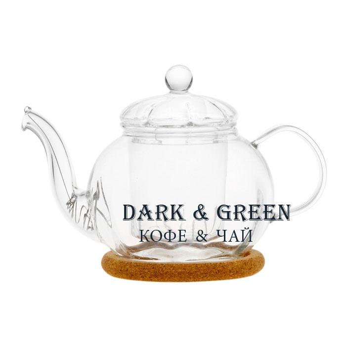 """Чайник из стекла """"Фиалка"""" 350 мл."""