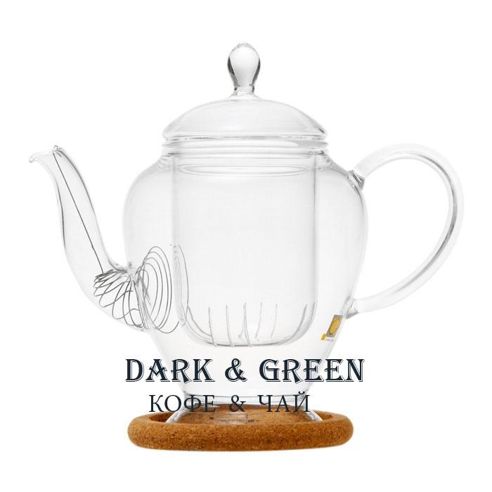 """Чайник из стекла """"Гортензия"""" 320 мл."""