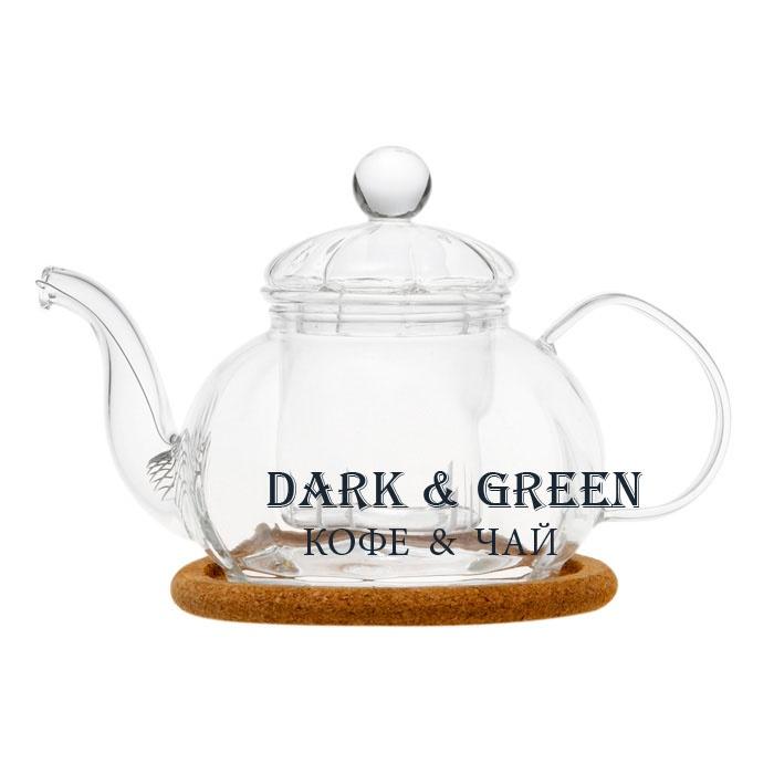 """Чайник из стекла """"Камелия"""" 470 мл."""