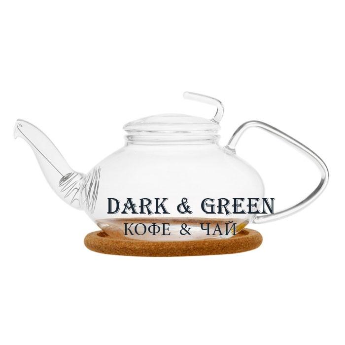 "Чайник из стекла ""Роза"" 470 мл."