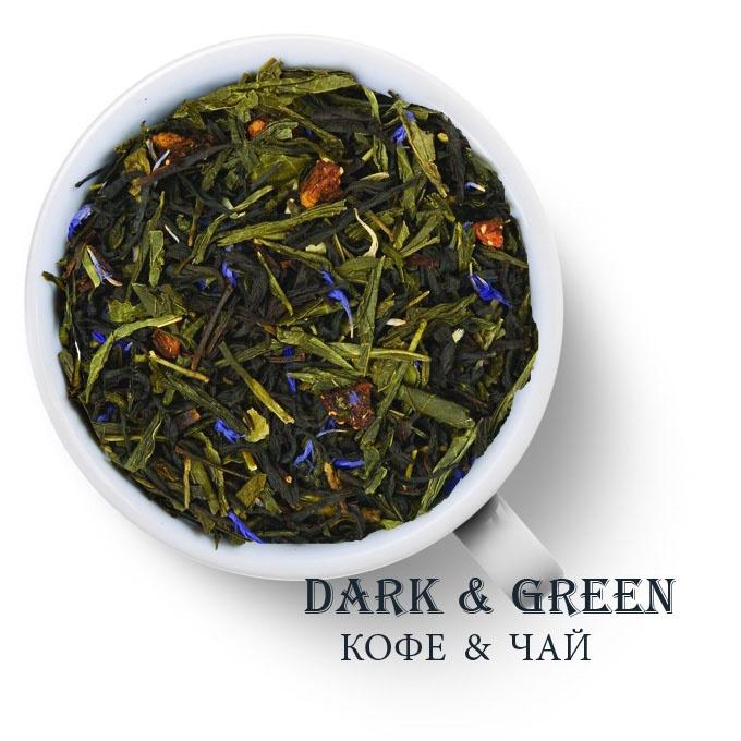 Чай зеленый с черным ароматизированный Клубника в шампанском