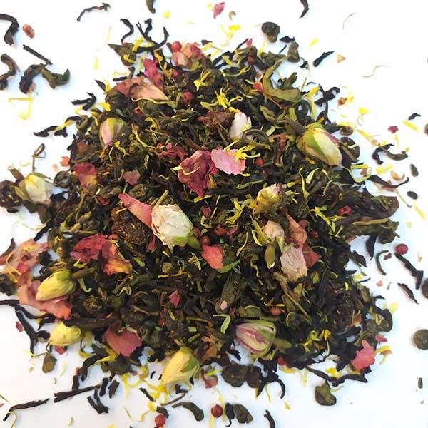 Чай зеленый с черным ароматизированный Улыбка Кармен