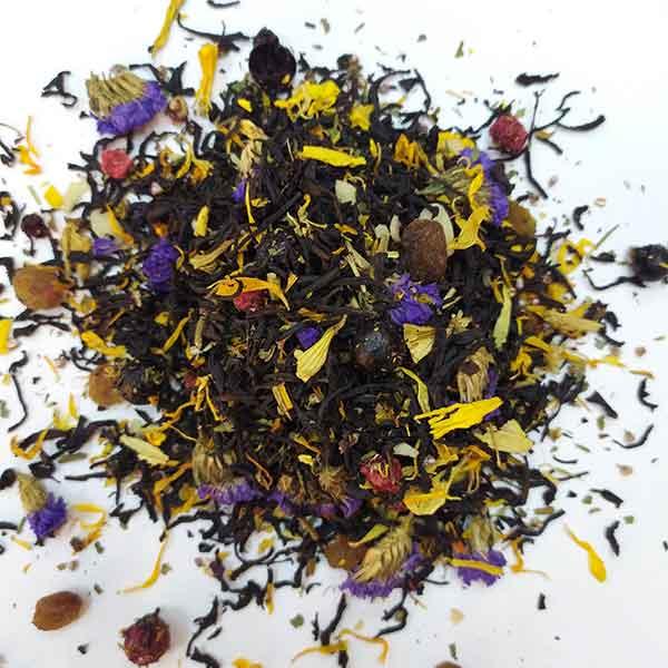 Чай черный ароматизированный Черничное лукошко