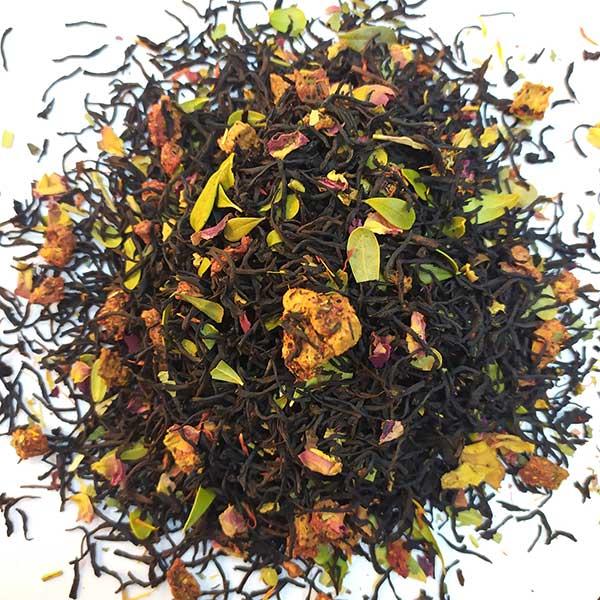 Чай черный ароматизированный Земляника со сливками