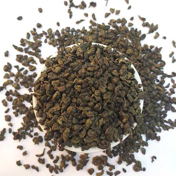 Чай зеленый ароматизированный Ганпаудер с мятой