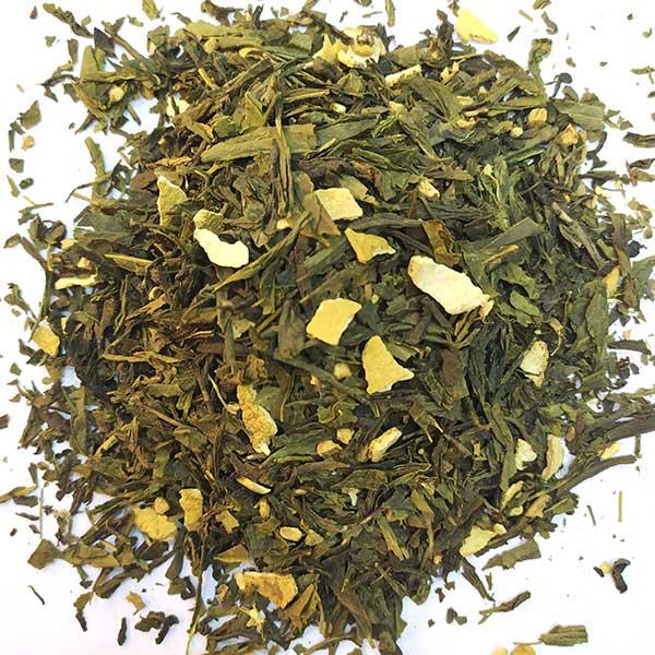 Чай зеленый ароматизированный Имбирь с апельсином