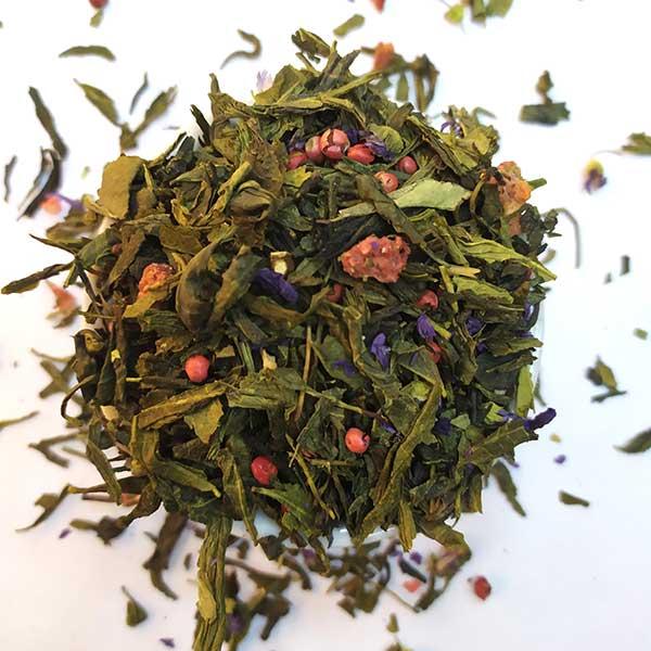 Чай зеленый ароматизированный Клубника-Чили