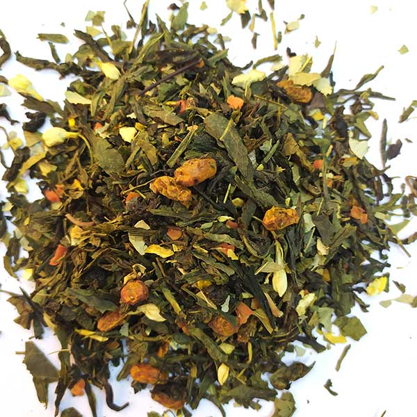 Чай зеленый ароматизированный Облепиха
