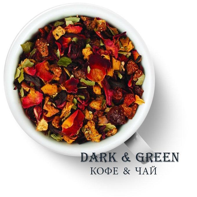 Чайный напиток на основе ягод и фруктов Клубника со сливками