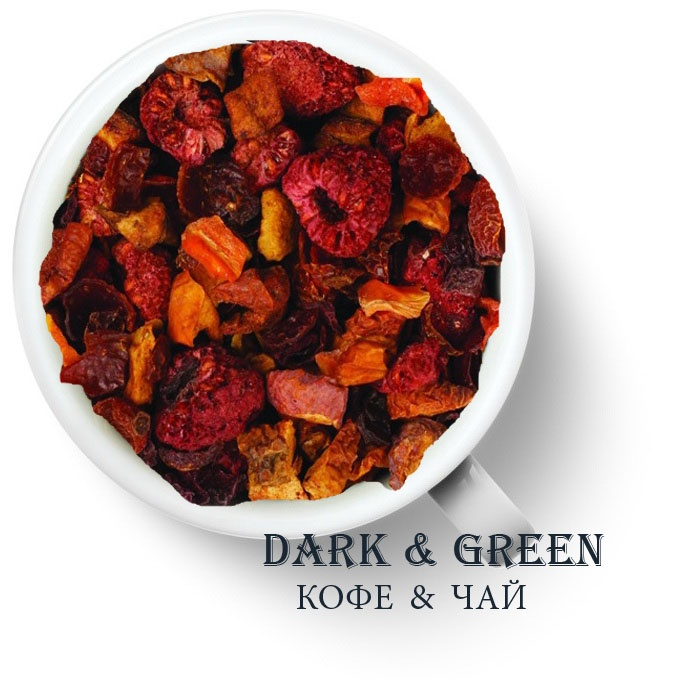 Чайный напиток на основе ягод и фруктов Малиновый коктейль