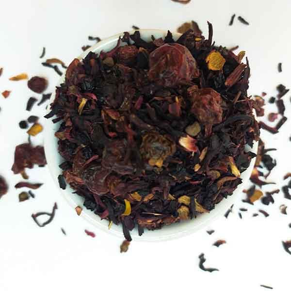 Чайный напиток на основе ягод и фруктов Вишневый Пунш